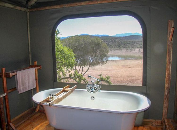Buffelsdrift Game Lodge Luxury Tent Bathroom
